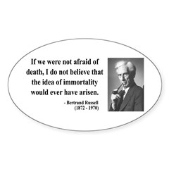 Bertrand Russell 5 Oval Decal