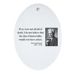 Bertrand Russell 5 Oval Ornament
