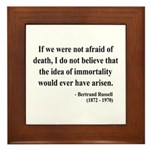 Bertrand Russell 5 Framed Tile