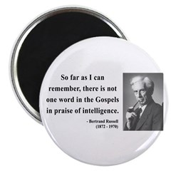 "Bertrand Russell 8 2.25"" Magnet (100 pack)"