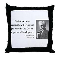 Bertrand Russell 8 Throw Pillow
