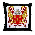 Torres Family Crest Throw Pillow