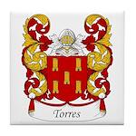 Torres Family Crest Tile Coaster