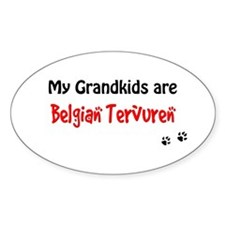 Tervuren Grandkids Oval Decal