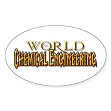 World of Chemical Engineering Oval Decal