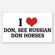 I Love Don, See Russian Don H Sticker (Rectangular