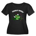 Valentine Women's Plus Size Scoop Neck Dark T-Shir