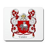 Valdes Family Crest Mousepad