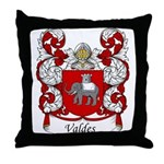 Valdes Family Crest Throw Pillow