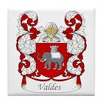 Valdes Family Crest Tile Coaster