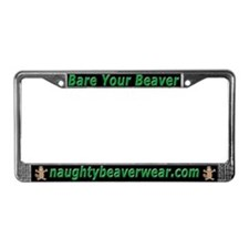 Bare Your Beaver License Plate Frame