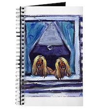 AFGHAN HOUND window Journal
