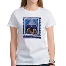 AFGHAN HOUND window Tee
