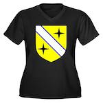Keterlyn's Women's Plus Size V-Neck Dark T-Shirt