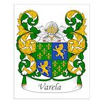 Varela Family Crest Small Poster