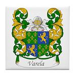 Varela Family Crest Tile Coaster