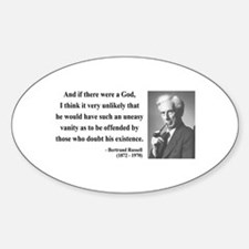 Bertrand Russell 10 Oval Decal