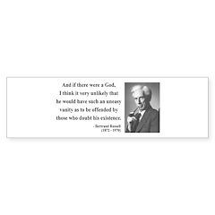 Bertrand Russell 10 Bumper Bumper Sticker