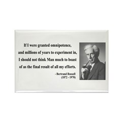 Bertrand Russell 11 Rectangle Magnet (100 pack)