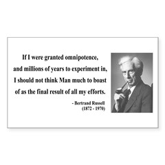 Bertrand Russell 11 Rectangle Decal