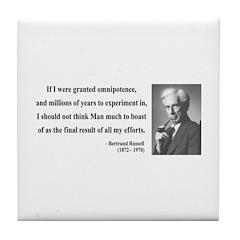 Bertrand Russell 11 Tile Coaster