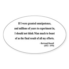 Bertrand Russell 11 Oval Decal