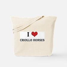 I Love Criollo Horses Tote Bag