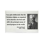 Bertrand Russell 12 Rectangle Magnet (100 pack)