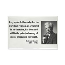 Bertrand Russell 12 Rectangle Magnet