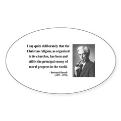 Bertrand Russell 12 Oval Decal