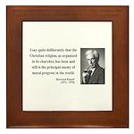 Bertrand Russell 12 Framed Tile