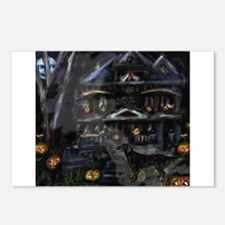 FLATTIE halloween house Postcards (Package of 8)