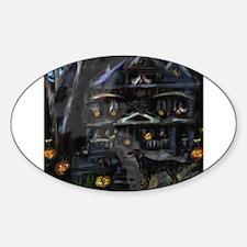 FLATTIE halloween house Oval Decal