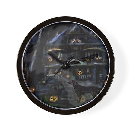 FLATTIE halloween house Wall Clock