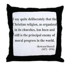 Bertrand Russell 12 Throw Pillow