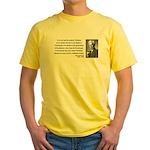 Bertrand Russell 14 Yellow T-Shirt