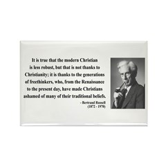 Bertrand Russell 14 Rectangle Magnet (100 pack)