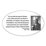 Bertrand Russell 14 Oval Sticker