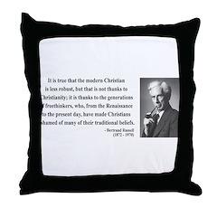 Bertrand Russell 14 Throw Pillow