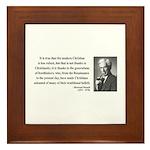 Bertrand Russell 14 Framed Tile