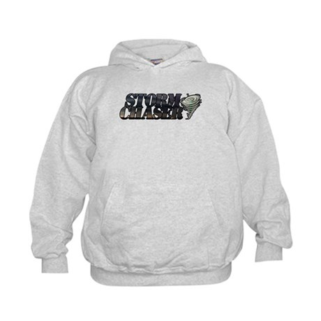 Storm Chaser Text Kids Hoodie