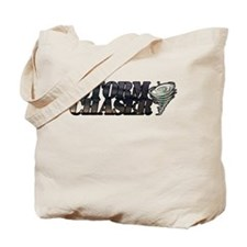 Storm Chaser Text Tote Bag