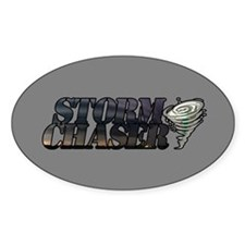 Storm Chaser Text Oval Decal
