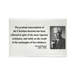 Bertrand Russell 17 Rectangle Magnet (100 pack)