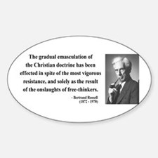 Bertrand Russell 17 Oval Decal