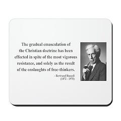 Bertrand Russell 17 Mousepad