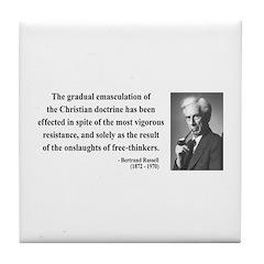 Bertrand Russell 17 Tile Coaster