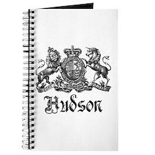 Hudson Vintage Crest Last Name Journal