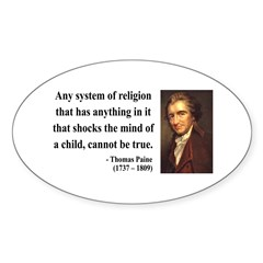 Thomas Paine 19 Oval Decal