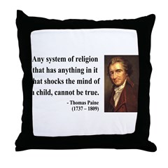 Thomas Paine 19 Throw Pillow